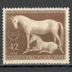Deutsches Reich.1944 Galopul de cai Munchen  KF.468, Nestampilat