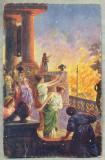 AD 271 C. P. VECHE -QUO VADIS ?- NERO DELIGHTING AT THE SIGHT OT THE FIRE-PATATA, Franta, Circulata, Printata