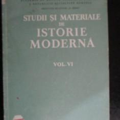 Studii si materiale de istorie moderna vol.6