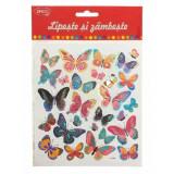 Abtibilduri DACO Lipeste si Zambeste, Model Fluturi, Multicolor, 27 Buc/Set, Autocolante Copii, Stickere Decorative, Stickere pentru Copii, Abtibildur