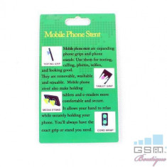 Suport Telefon iPhone Samsung Nokia HTC Stand Cablu Grip Alb, Apple