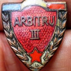 I.169 INSIGNA SPORTIVA ROMANIA ARBITRU CATEGORIA III h20mm email