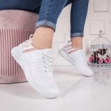 Pantofi dama sport albi Xalleri
