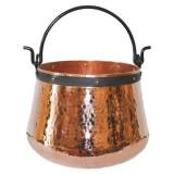 Ceaun Traditional, Cupru Masiv, Toarta Fier Forjat, 200 Litri