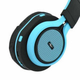 Casti bluetooth cu microfon, AP-B04, negru-albastru