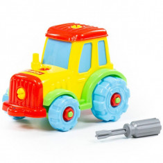 Tractor demontabil, 25,5x11,5x20,5 cm, Polesie