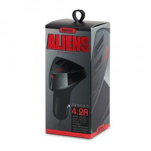 Incarcator Auto Universal Remax Alien, Cu 3 x USB, Negru