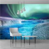 Fototapet aurora boreala 120 x 180 cm - Hartie foto fara adeziv