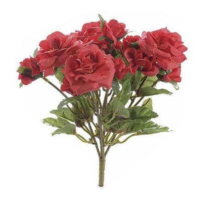 Buchet de flori artificiale trandafiri rosii 15 H foto