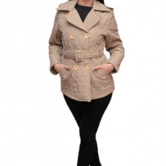Jacheta moderna, de culoare bej matlasata JA-2403-MA