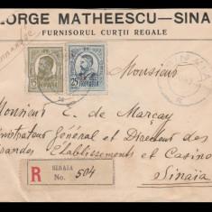 1912 Romania - Plic cu antet George Matheescu Sinaia, Furnizorul Curtii Regale