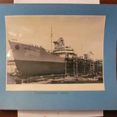 PVM - Fotografie format mare nava maritima vapor vas sfarsitul anilor '50 / URSS