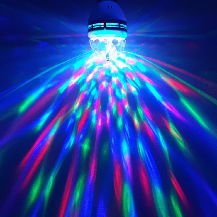 Bec LED Rotativ, Party Light cu Senzor de Vibratii