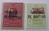 Carol Tipografiate - Supratipare 1918 + TIMBRU DE AJUTOR - Neuzate