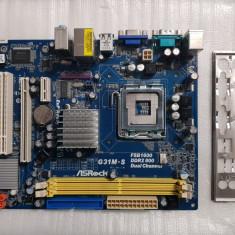 Placa de baza Asrock G31M-S, socket 775 DDR2 Pci-E - poze reale