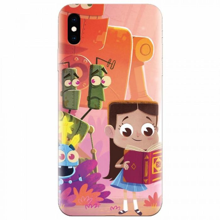Husa silicon pentru Apple Iphone XS, Children Kids Robots Illustration Colorful K