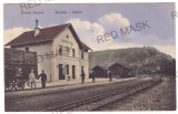 5383 - RESITA, Railway Station, Romania - old postcard - unused