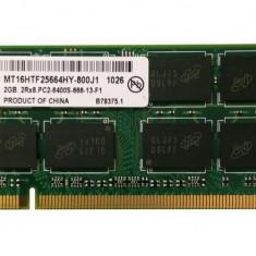 Memorii Laptop SODIMM Micron 2GB DDR2 PC-6400S 800Mhz