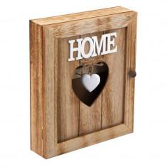 Cutie lemn pentru chei, 21 x 6 x 26 cm, mesaj Home