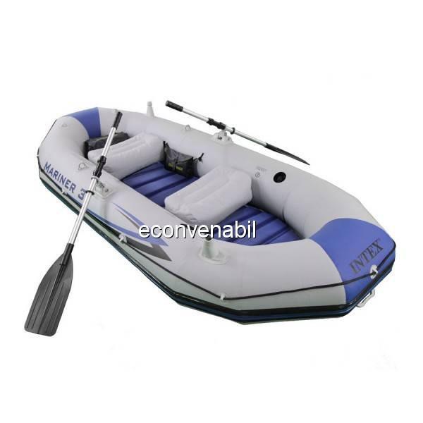 Barca Gonflabila Mariner III 3 Persoane Intex 68378 cu Podea Rigida 68373