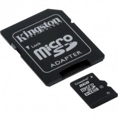 Micro secure digital card kingston 8gb clasa 4 adaptor sd