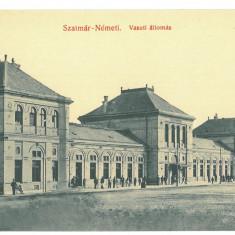 4640 - SATU-MARE, Maramures, Market, Romania - old postcard - unused, Necirculata, Printata
