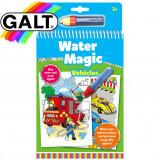 Carte de colorat cu apa - Vehicule - Water Magic, Galt