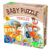 Set 4 puzzle-uri Baby Puzzle Vehicule.
