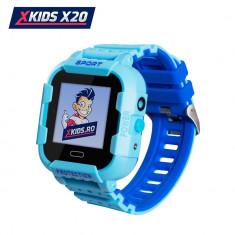 Ceas Smartwatch Pentru Copii Xkids X20 cu Functie Telefon, Localizare GPS, Apel monitorizare, Camera, Pedometru, SOS, IP54, Incarcare magnetica, Albas