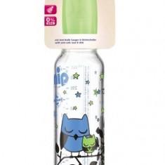 Biberon sticla 250 ml cu tetina latex pentru lapte nr 1 Nip 35015