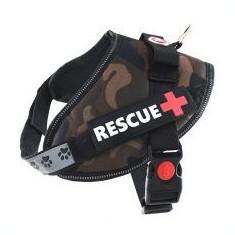 Ham pentru câini Rescue S 45 - 55 cm, camuflaj