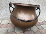 Ceaun vechi german din cupru masiv,capacitate aprox 25 l