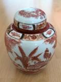 Vaza / Recipient condimente - portelan Japonia - coaja de ou - pictata manual
