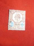 Timbru 5 pence  Eduard VII rosu si verde stampilat 1902 Marea Britanie