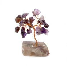 Copacel cu ametist pe suport de piatra