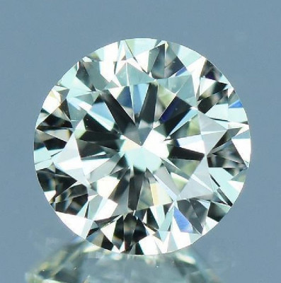DIAMANT NATURAL ALB-certificat autenticitate-0,132ct.-3,30mm-G-VS2-pret bun foto