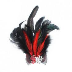 Bratara fashion din piele cu pene B423