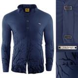 Camasa pentru barbati flex fit bleumarin casual cu guler sedna savage