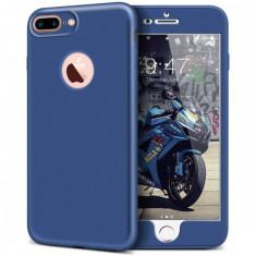 Husa Apple iPhone 7 Plus Full Silicone 360 Albastru