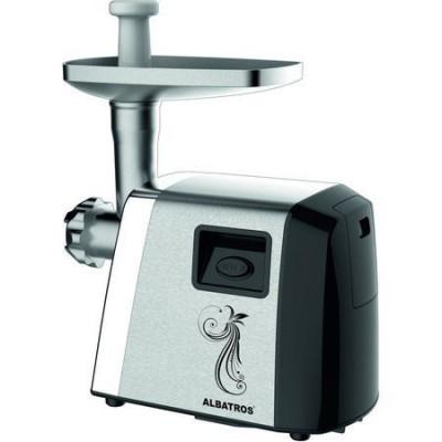 Masina de tocat Albatros MTA1800X, 1800 W, Accesoriu suc de rosii, Accesoriu pentru preparare fursecuri, Inox foto