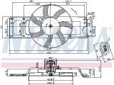 Ventilator radiator (cu carcasa) DACIA LOGAN, SOLENZA; RENAULT LOGAN I 1.4-1.9D dupa 2003, Nissens