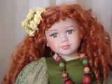 Angela, papusa de colectie din portelan, H-70 cm