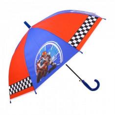 Umbrela pentru baieti, automata Racing Moto 80 cm Multicolor