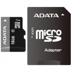 Micro Secure Digital Card ADATA 16Gb, AUSDH16GUICL10-RA1, Clasa 10,, Micro SD, 16 GB, A-data