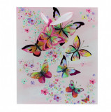Punga hartie M Colourful Butterfly
