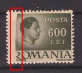 1946 - Mihai, val. 600L eroare, tipar incomplet