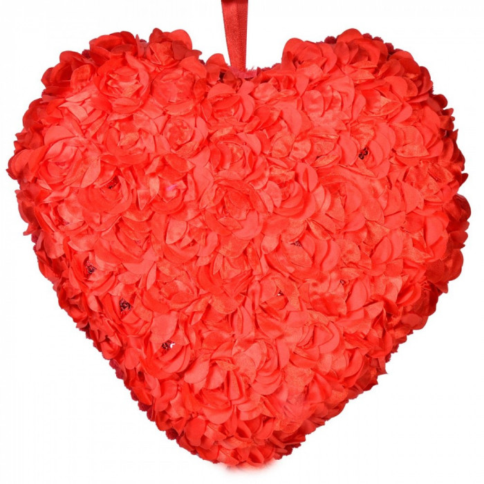 Perna Inima Rosie cu Trandafiri -
