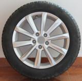 Vând SET roți iarnă VW PASSAT B8, 17, 6,5, Ronal