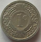 Moneda exotica 1 CENT - ANTILELE OLANDEZE (Caraibe), anul 2005 * cod 975, America Centrala si de Sud, Aluminiu
