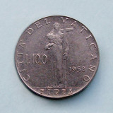 VATICAN - 100 Lire 1958, Europa
